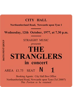 The Stranglers City Hall Ticket (Coaster)