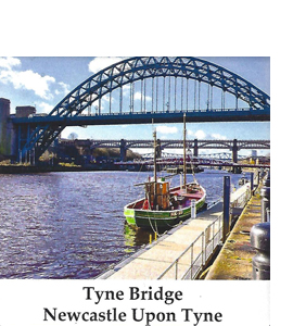The Tyne Bridge Newcastle Upon Tyne (Ceramic Coaster)