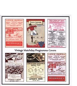 Third Lanark Vintage Programme (Greetings Card)
