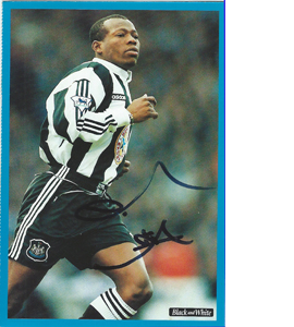 Tino Asprilla Newcastle Postcard (Signed)