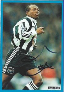 Tino Asprilla Newcastle Postcard (Signed)
