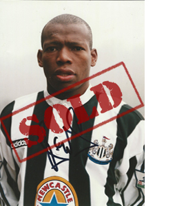 Tino Asprilla Newcastle Photo (Signed)