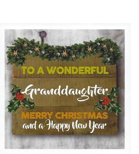 To A Wonderful Grandaughter (Greetings Card)