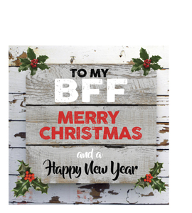 To My BFF Merry Christmas (Greetings Card)