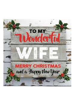 To My Wonderful Wife Merry Christmas (Greetings Card)