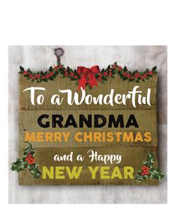 To a Wonderful Grandma Merry Christmas (Greetings Card)