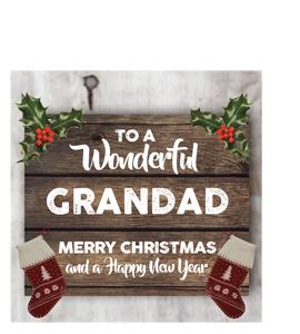 To a Wonderful Grandad Merry Christmas (Greetings Card)