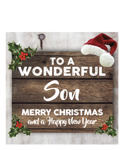 To a Wonderful Son Merry Christmas (Greetings Card)