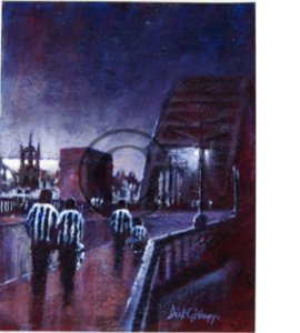 Toon Bridge Newcastle United Print by Dick Gilhespy (Print)