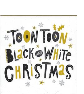 Toon Toon Black & White Christmas (Greetings Card)