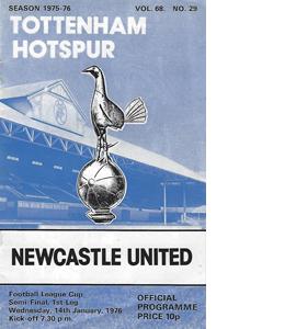 Tottenham v Newcastle 75/76 Lge Cup Semi Final 1st L (Programme)