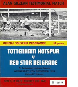 Tottenham v Red Star Belgrade A.Gilzean Testimonial (Programm