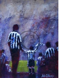 'Twin Strikers' Newcastle United Print by Dick Gilhespy (Print)
