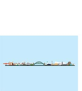 Tyneside Landscape, Pop Art (Greeting Card)