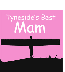 Tyneside's Best Mam, Angel of the North (Greeting Card)
