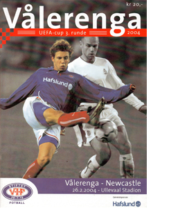 Valerenga v Newcastle United 03/04 (Programme)