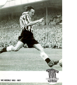 Vic Keeble Newcastle United Heroes (Postcard)