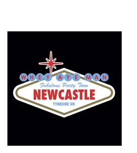 Viva Newcastle Party Toon (Greetings Card)