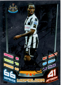 Vurnon Anita Newcastle United Match Attax Trade Card (Signed)