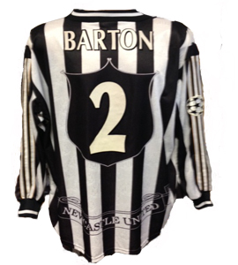 Warren Barton Newcastle United Champions Lge Shirt  (Match-Worn)