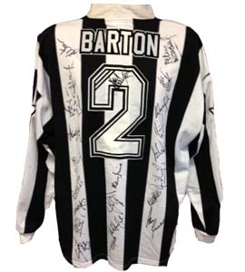 Warren Barton Newcastle United Home Shirt 1996/97 (Match-Worn)