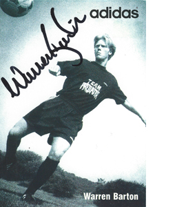 Warren Barton Newcastle Sponsor Card  (Signed)