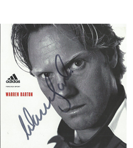 Warren Barton Newcastle Sponsor Card (Signed)
