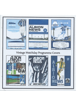 West Bromwich Albion Vintage Programme (Greeting Card)