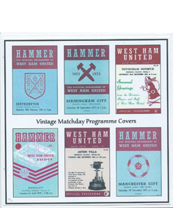 West Ham United Vintage Programme (Greeting Card)