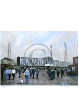 'West Stand' Newcastle United by Dick Gilhespy (Print)