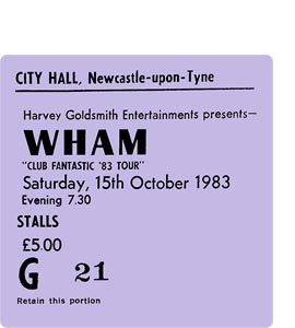 Wham City Hall Ticket (Coaster)