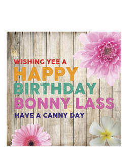 Wishing Yee A Happy Birthay Bonny Lass. (Greeting Cards).