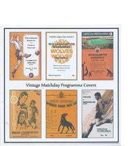 Wolverhampton Wanderers Vintage Programme (Greeting Card)