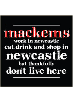Work, Eat, Drink & Shop in Newcastle (Greeting Card)