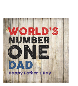 World's Number One Dad (Greetings Card)