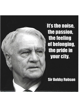 Bobby Robson Quote (Ceramic Coaster)