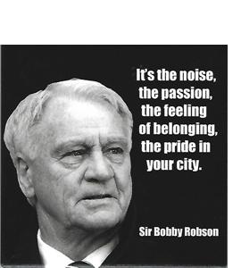 Bobby Robson Quote (Ceramic Coaster)