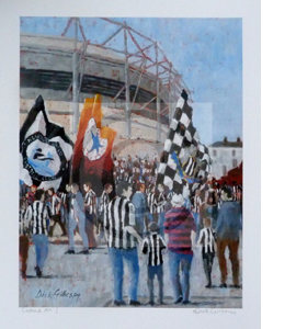 'Game On' Newcastle United Print by Dick Gilhespy (Print)