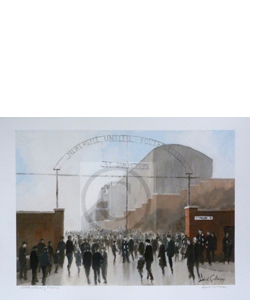 'Strawberry Place' Newcastle United Print Dick Gilhespy (Print)