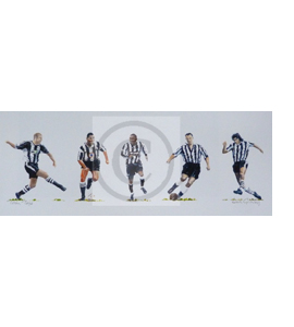 'Toon Tops' Newcastle United Print by Dick Gilhespy (Print)