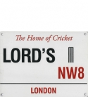 Lords NW8 (Metal Sign)